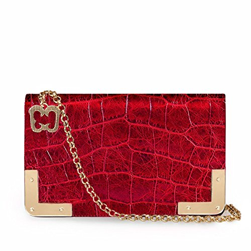 Eric Javits Luxury Fashion Designer Women's Handbag – Cassidy – Red