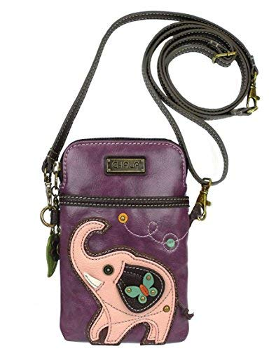 Chala Elephant Cellphone Crossbody Handbag – Convertible Strap