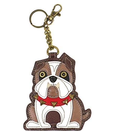 Chala Bulldog Key Fob Coin Purse Keychain Dog Lovers