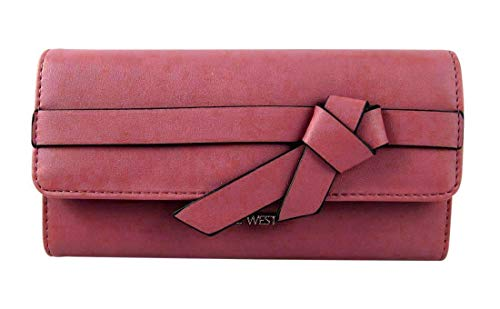 Nine West Haute Bow Checkbook Wallet, Dusty Rose