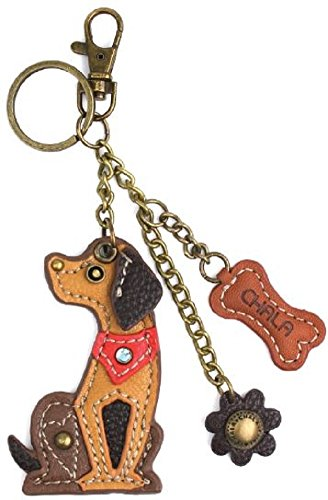 Chala Puppy Dog Key Chain Purse Leather Bag Fob Charm New