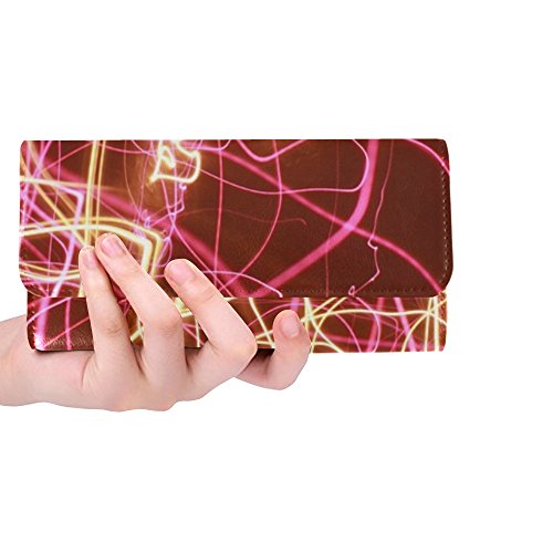 Unique Custom Advent Wreath Christmas Pink Women Trifold Wallet Long Purse Credit Card Holder Case Handbag