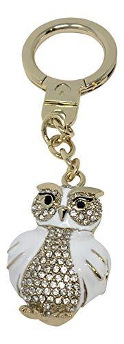 Kate Spade Jeweled Owl Key Chain Bag Charm WORU0267 White