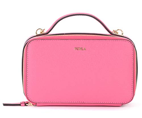 Furla Furla Babylon M Bandolier Bag In Pink Leather With Shoulder Strap And Handle Fuchsia