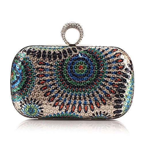LHQ-HQ Women's Clutches Sequin Evening Bag Clutch Purse Bags Special Occasion Evening Handbags