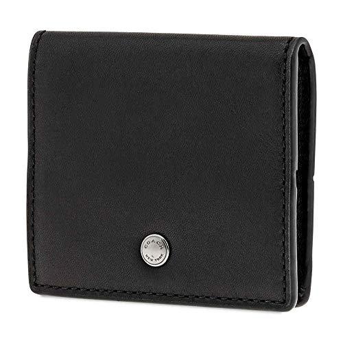 Coach Men's Coin Purse Leather Black Oragami Coin Case Sc