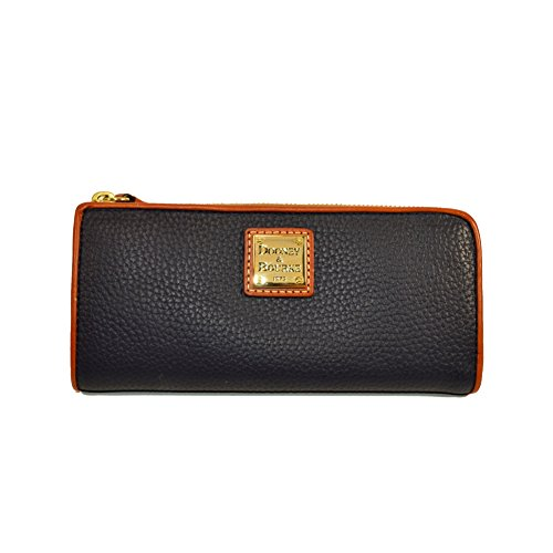 Dooney & Bourke Pebble Leather Zip Clutch Midnight Blue