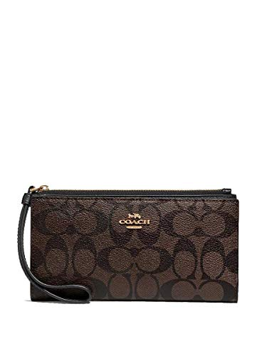 Coach Signature Long Wallet Leather Clutch – #F76580