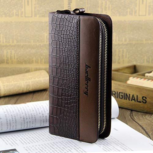 Xennos Wallets – Baellerry Crocodile Pattern Long Wallet Double Zip Men Wallets Coin Purse Card Holder Mens Clutch Bags 50PCS/lot
