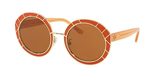 Tory Burch 0TY6062 51mm Vintage Orange/Solid Brown One Size
