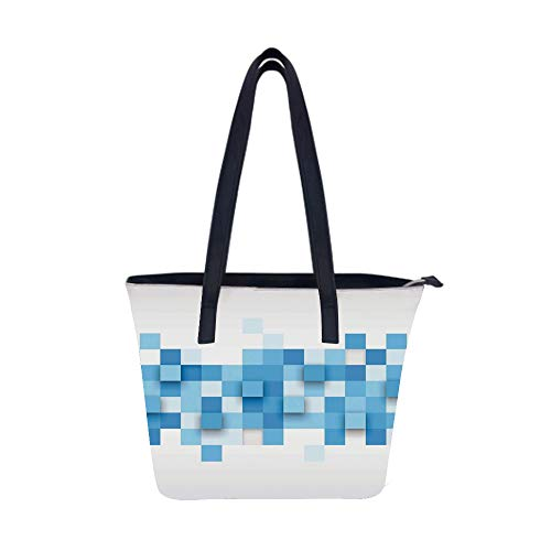Abstract Graphic Modern Women Leather Laptop Tote Office Shoulder Handbag Computer Briefcase