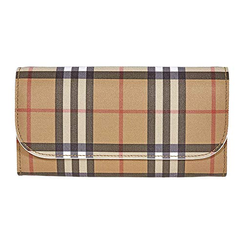 Burberry women's wallet coin case holder purse card bifold Halton brown