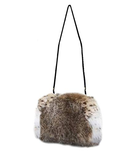 Women's Real Lynx Fur Purse Hand Warmer Muff