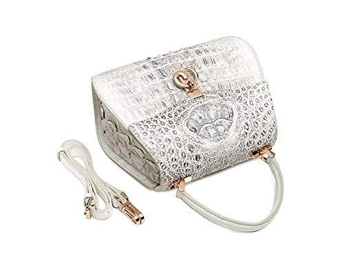 EEKUY Alligator Handbags, Crocodile Clutch Purse Shoulder Bag Underarm Bag Shoulder Bag Messenger Bag Wild Tote Bag 10.8×8.1×5.3 Inch