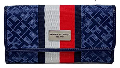 Tommy Hilfiger Women's Logo Checkbook Wallet Clutch Bag – Navy 715676457125