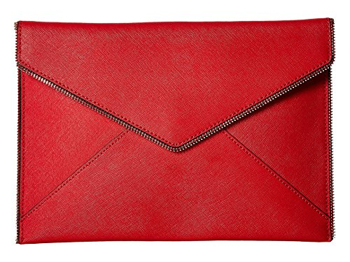 Rebecca Minkoff Women's Leo Clutch Carnation Red One Size