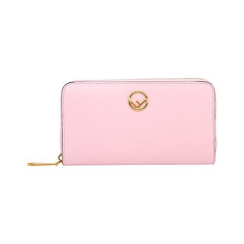 Fendi Zip-Around Ladies Large Pink Leather Wallet 8M0299A18BF01KW