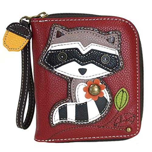 Chala Handbags Raccoon Zip-Around Wristlet Wallet