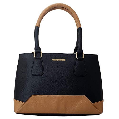 Lapis O Lupo Livid Women Handbag Black Designer Satchel bags with Multi Pocket