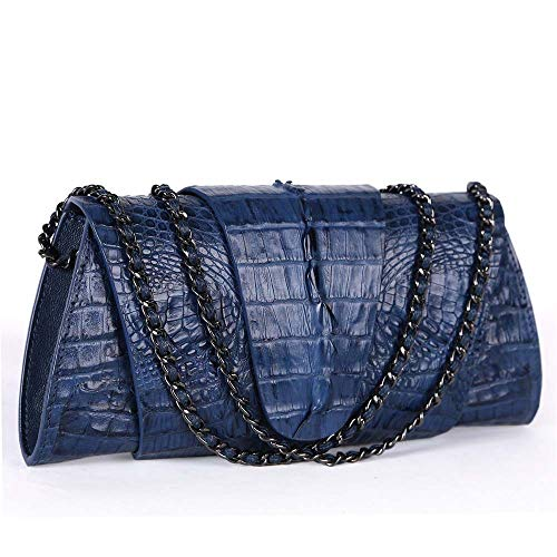 EEKUY Women Chain Shoulder Bag, Alligator Crocodile Purse Luxury Banquet Handbag Can Hold Wallet Phone Cosmetics 10.6×1.6×4.9 Inch