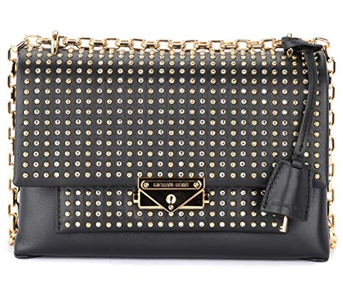 Michael Kors Shoulder Bag Michael Kors Cece Medium In Black Leather With Studs Black