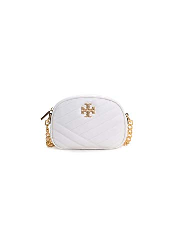 Tory Burch Kira Leather Chevron Small Camera Bag in New Ivory
