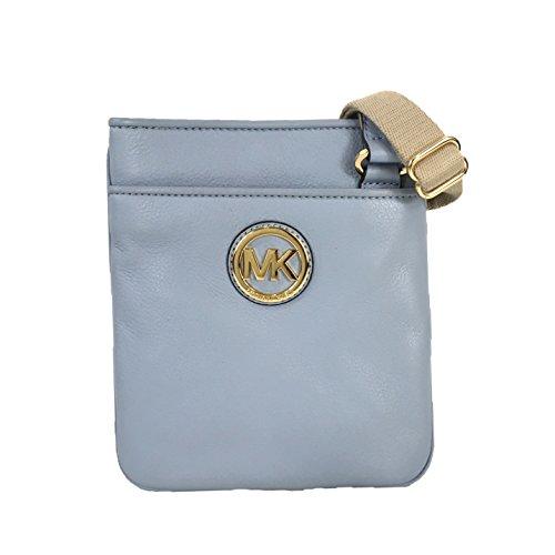 Michael Kors Fulton Leather Crossbody Pale Blue