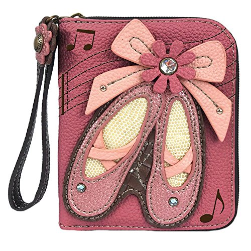 Chala Ballerina Ballet Shoes Zip-Around Wristlet Wallet – Ballet Accessories Dance Chala Group Handbags