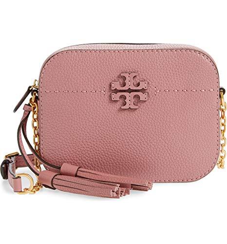 Tory Burch Women's Magnolia Pink Mcgraw Leather Cross Body Handbag