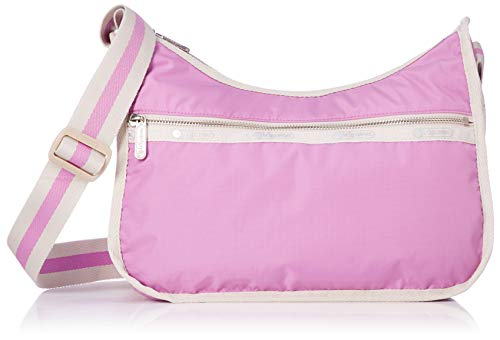 LeSportsac Heritage Lavender (Pink Lemonade) Classic Hobo Crossbody Bag + Cosmetic Bag, Style 7520/Color F250, 45th Anniversary Collection, 2 Tone Strap