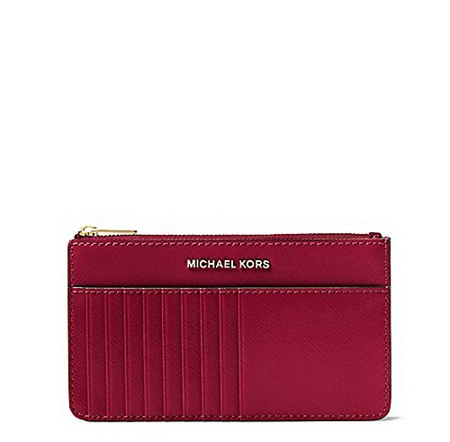 NEW AUTHENTIC MICHAEL KORS JET SET TRAVEL CARD CASE WRISTLET (Cherry)