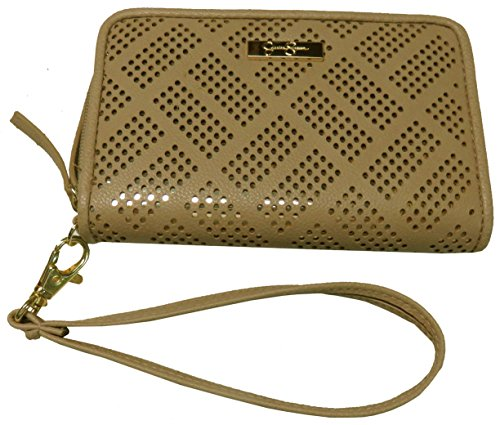Jessica Simpson Ronette Single Zip Around Wristlet/Wallet, Natural