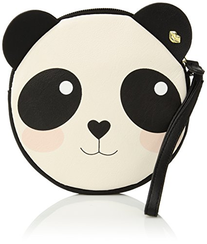 Luv Betsey Women's Coin Wrislet Panda Coin Purse Black/Cream One Size