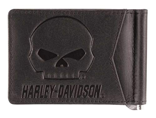 Harley-Davidson Men's Outsider Money Clip Leather Wallet w/RFID HDMWA11646