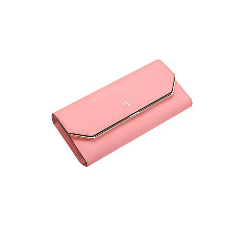 Kalmar RFID Travel Wallet Leather Wallet, Clutch, Big Travel Wallet Handbag, Ladies Box Gift Extra Capacity Travel Wallet (Color : Pink)