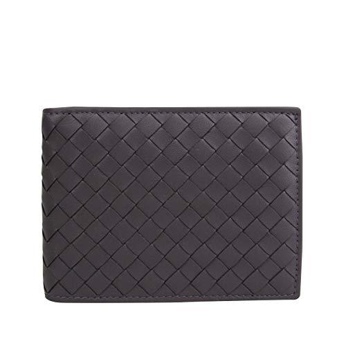 Bottega Veneta Men's Intercciaco Plum Leather Woven Bifold Wallet 148324 6017