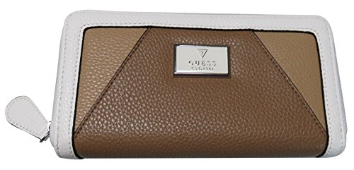 Guess Women's Zip Around Wallet Books Slg White Multi