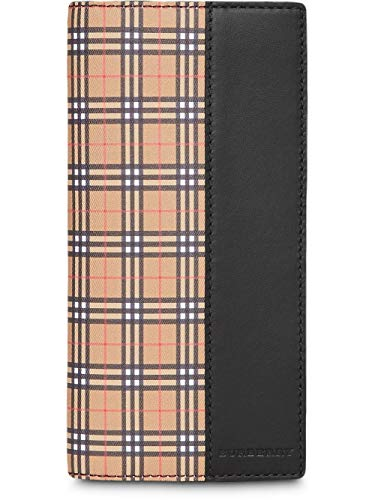 Burberry CAVENDISH Small Scale Check and Leather Continental Long Wallet
