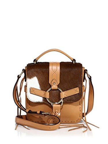 Rebecca Minkoff Calf Hair Darling Top Handle Crossbody Bag, Sand