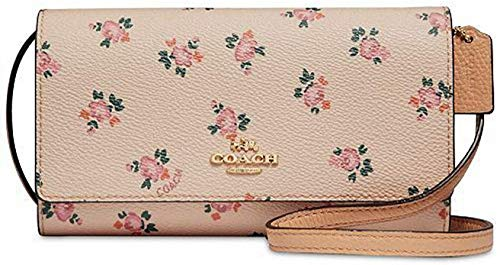 Coach Phone Wallet Mini Crossbody Bag with Floral Bloom