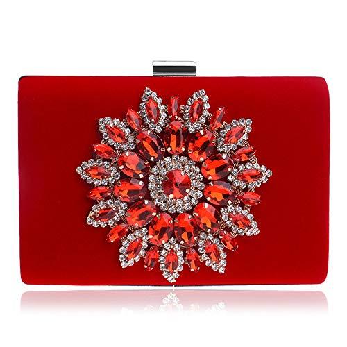 Evening Bag Handbags Rhinestone Flower Women's Clutches Evening Bag Clutch Purse Bags Special Occasion Evening Handbags