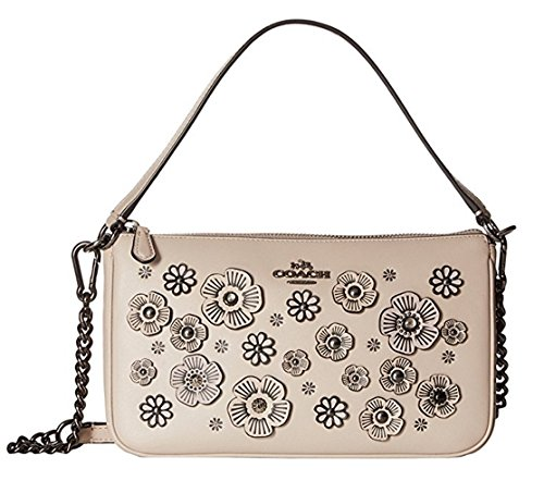 COACH Women's Floral Crossbody Nolita 24 DK/Grey Birch Cross Body