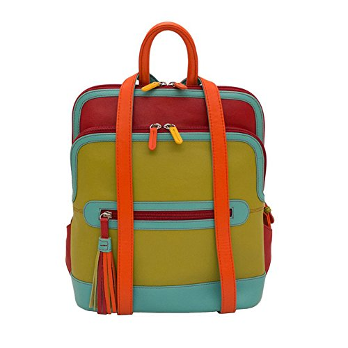 ili Leather 6505 Backpack Handbag (Citrus)