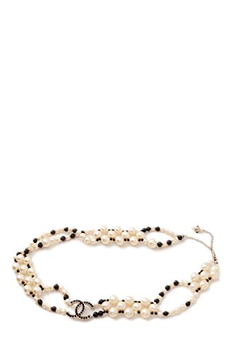 CHANEL Pearl & Acrylic Belt 30 (Pre-Owned)