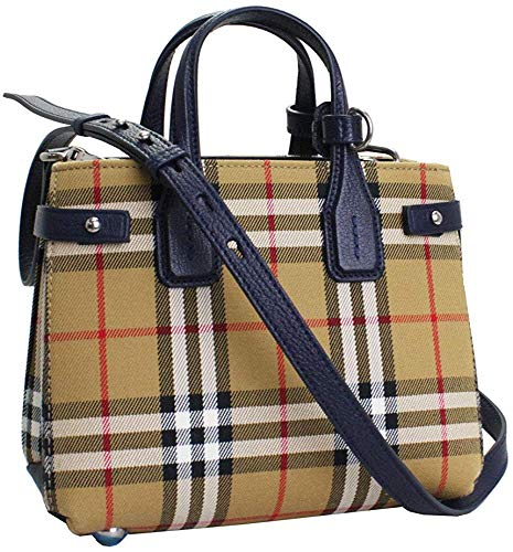 Burberry The Baby Banner IN Vintage Check Tote Bag With Shoulder Strap 40785081