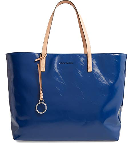 Tory Burch Women's Milo Bright Indigo Leather Tote Handbag