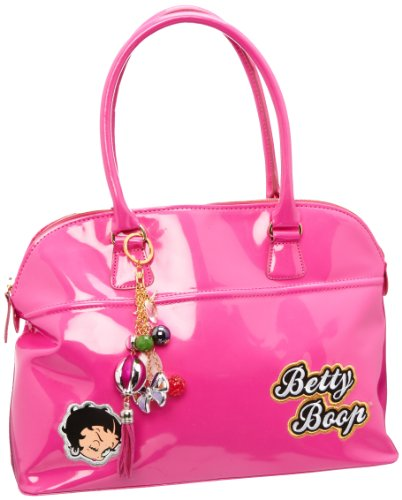 Betty Boop It Girl Shiny Pink Lady's Designer Handbag