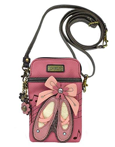 Chala Ballerina Shoes Cellphone Crossbody Handbag – Convertible Strap Ballet Shoes