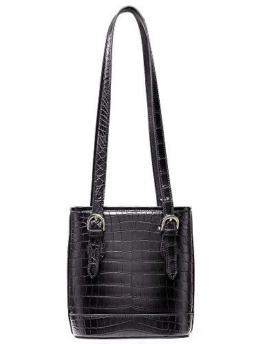 EEKUY Ladies Handbag, Crocodile Skin Shoulder Bag Tote Bag Nile Alligator Crossbody Lady 7.5×6.7×3.5 Inch