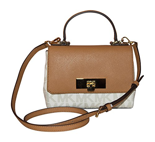 Michael Kors Signature Callie X-Small Crossbody Handbag, Vanilla, Acorn